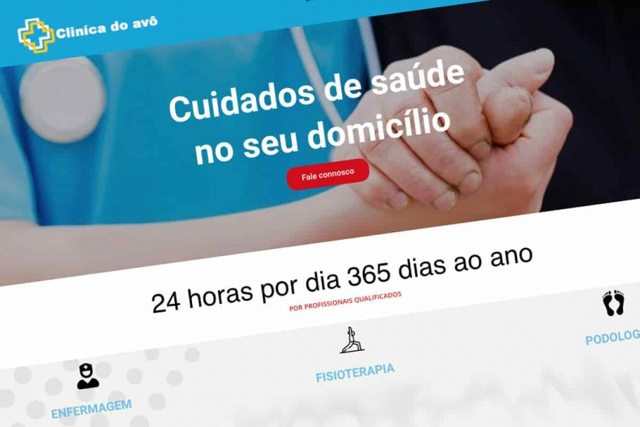 Clínica do avô, Enfermeiros ao domicilio, website institucional, BEHS
