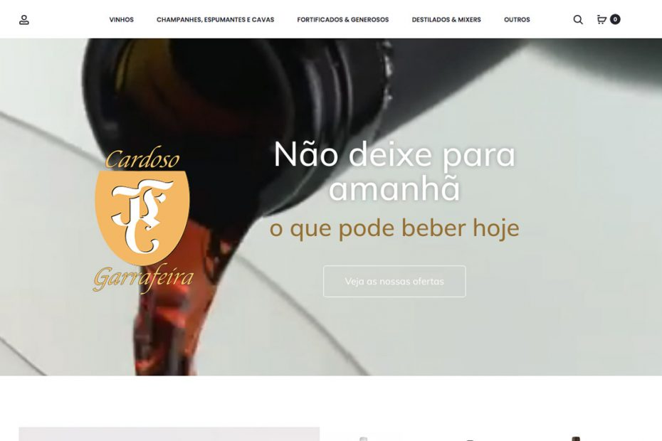 Garrafeira Cardoso Famalicão, loja online, serviço BEHS