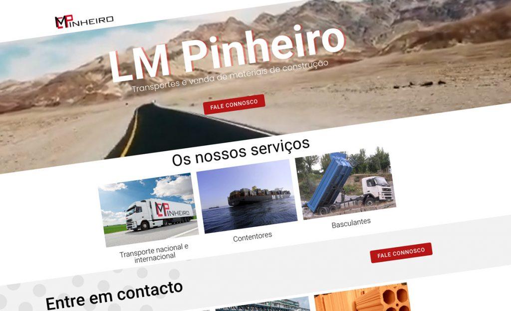 LM Pinheiro Transportes , website corporativo BEHS
