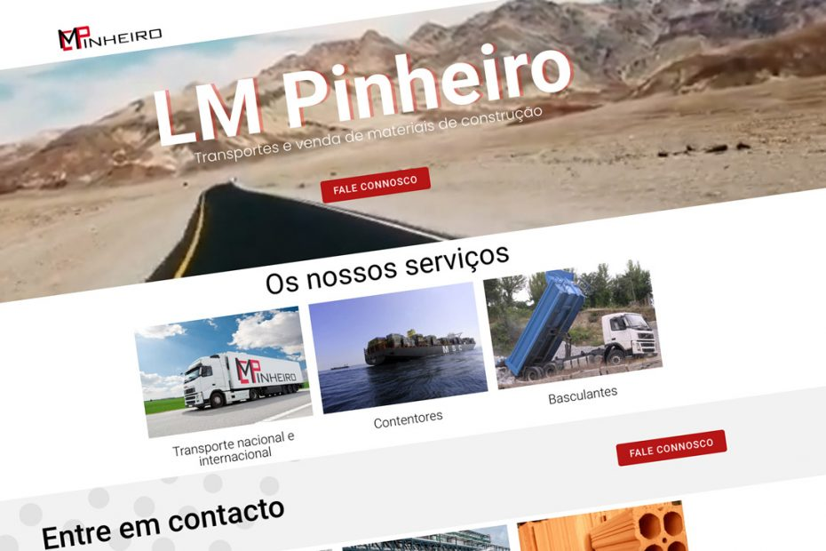 LM Pinheiro Transportes , website corporativo BEHS