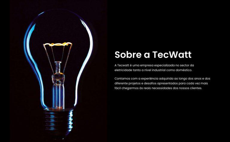 TecWatt eletricistas Lisboa ao Algarve, website institucional criado pela BEHS