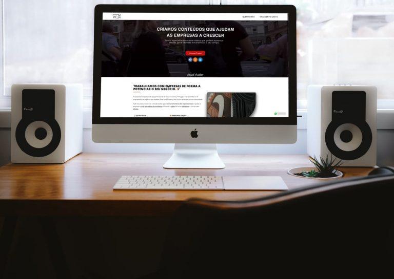 Visual Cluster website criação behs