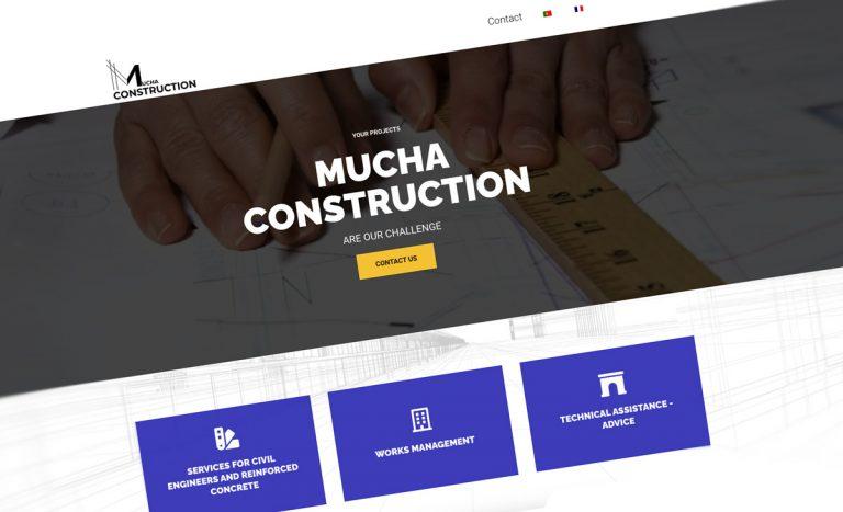 MUCHA CONSTRUCTION, website corporativo BEHS