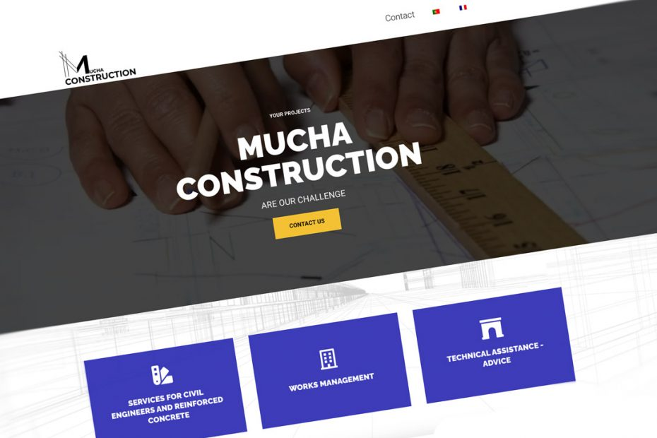 MUCHA CONSTRUCTION, website corporativo BEHS