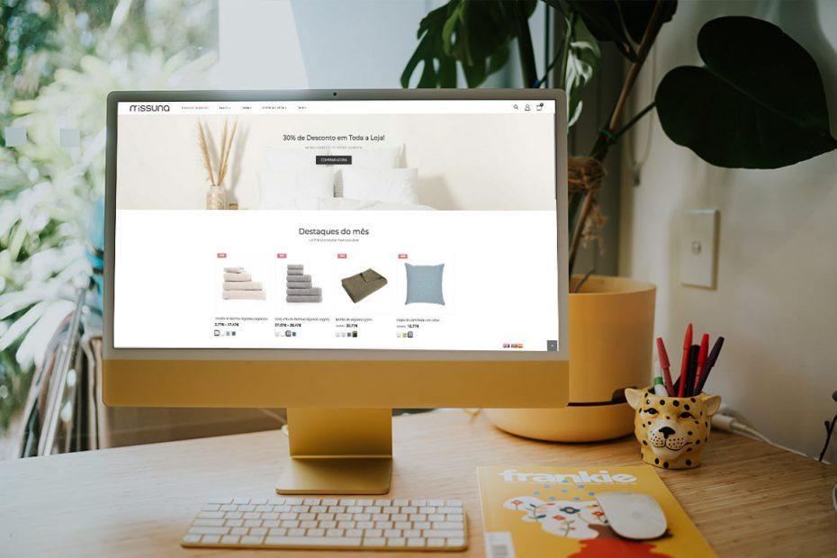 Missuna Home Loja online criada pela BEHS