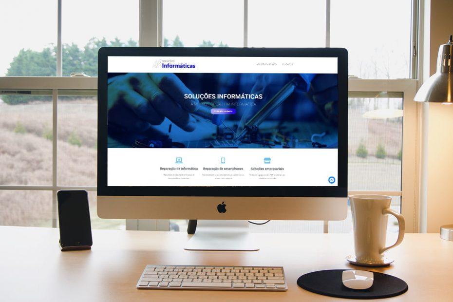 soluções informáticas website criado pela BEHS